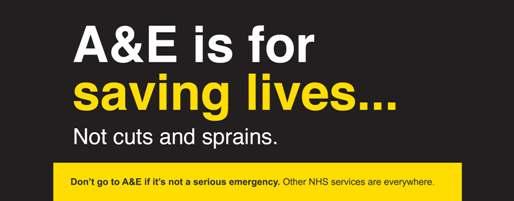 A&E for saving lives